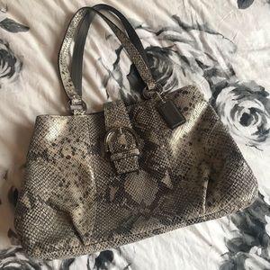Coach Snakeskin Purse Bag